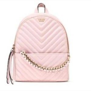 Victoria's Secret Pebbled V-Quilt Small Backpack